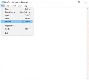 create new text document notepad